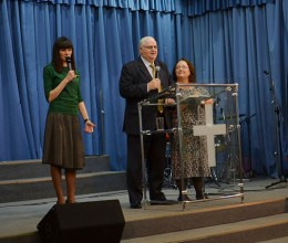 Missionaries Larry and Mary Kessler ministered at the Source of Life Church in Syktyvkar